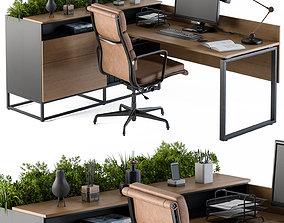 3D model soil Office Desk Set