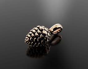 3D printable model Pine cone pendant for graceful and 2