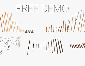 Free Demo - Modular Wooden Stakes and Planks 3D model