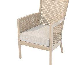 Custom made rattan chair 3D