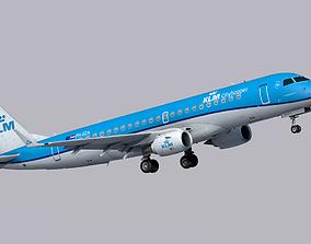 3D asset realtime Embraer E190 KLM