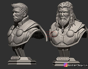 3D printable model Thor Bust Avenger 4 bust - 2 Heads - 4
