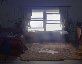 3D asset Abandoned room from The Last Of Us Part II 1