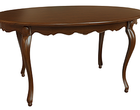 3D Classic wood table 1500