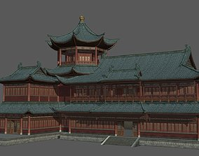 3D asset Ancient Chinese Shop Buildings with Internal