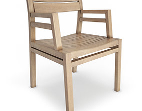 3D model Costes Wooden Chair