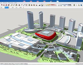 3D Sketchup Commercial and office complex B8