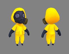 3D asset Cartoon Chemical protective member