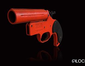 3D asset Flare Gun