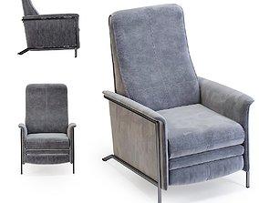 3D model Relax Chair Lazy Velvet Grey