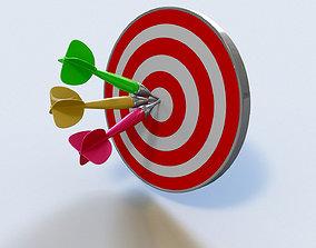 Darts with arrows 3D model