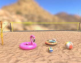 Beach Toys Collection 3D