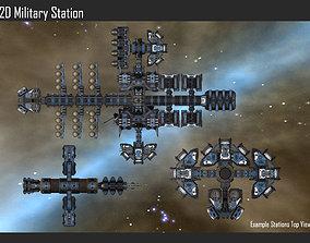 2D Military Station 3D model