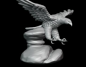 Bald Eagle sculpture 3D print model