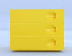 3D Yellow Night Stand