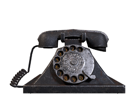 Retro Telephone - Low poly Game ready - Unreal 3D model