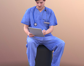 3D asset Andy 10494 - Sitting Doctor