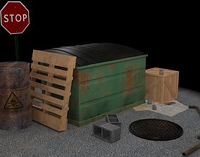 3D Horror Alley Industrial Game Asset Pack alley