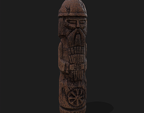 3D model Dazhbog Old Wooden Figure