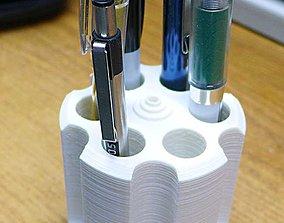 3D print model 6 Shooter cylinder pen pencil holder