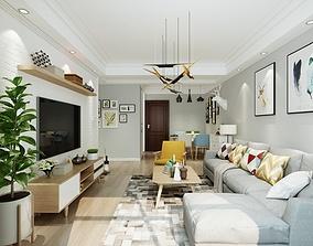 3D model living room living-room diningtable