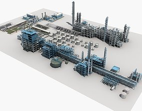 Refinery Unit pipe 3D model