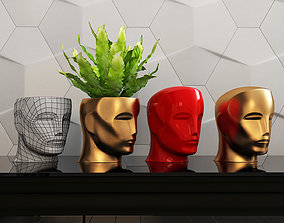 3D print model oscar Oscar head piggy bank vase