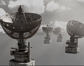 3D model PBR Satellite Dish
