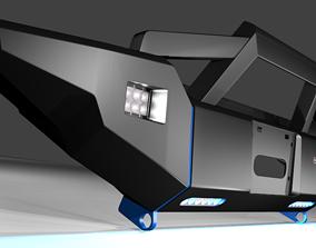 3D model Bumper Front Of Rustic Road Vehicle