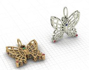 3D print model Butterfly pendant