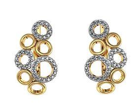 Earrings Bubbles from set 3D printable model