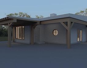 Small guest summer house 3D model