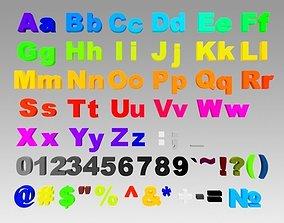 3D Alphabet