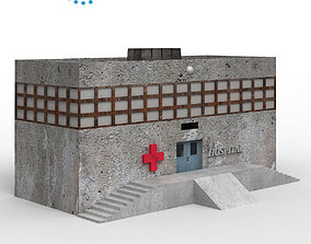 Haunted Hospital low poly 3D model