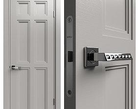 Internal door Academy Medea 5 doors 1 3D model