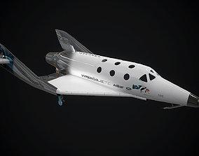3D model Virgin galactic spaceship