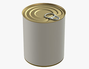 canned food round tin metal aluminium can 09 3D