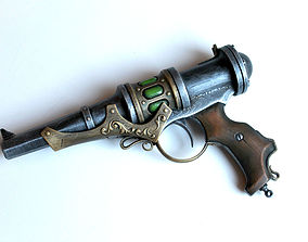 steampunk energy gun prop 3D print model