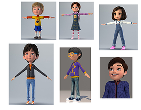3D asset CARTOON CHILD - PACK