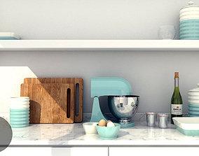 3D model Aqua Cream Kitchen