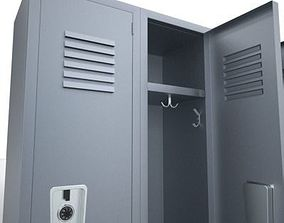 interior 3D model Lockers