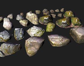 desert 3D model game-ready rocks