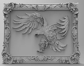 Eagle in framed 3d stl models for artcam and aspire