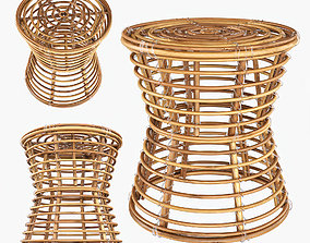 3D model Wicker coffe table