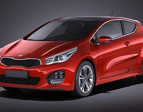 Kia Pro Ceed GT-line 2017 VRAY 3D model