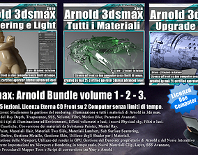 Arnold in 3ds max Bundle Volume 1 2 3 Cd Front