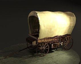 Old Wagon 3D asset