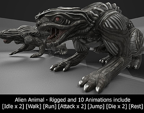 3D asset Alien Animal Rigged and Animated