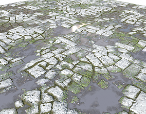 Old Mossy Floor Seamless 4 PBR mossy 3D