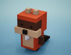 Voxel - Beaver 3D asset